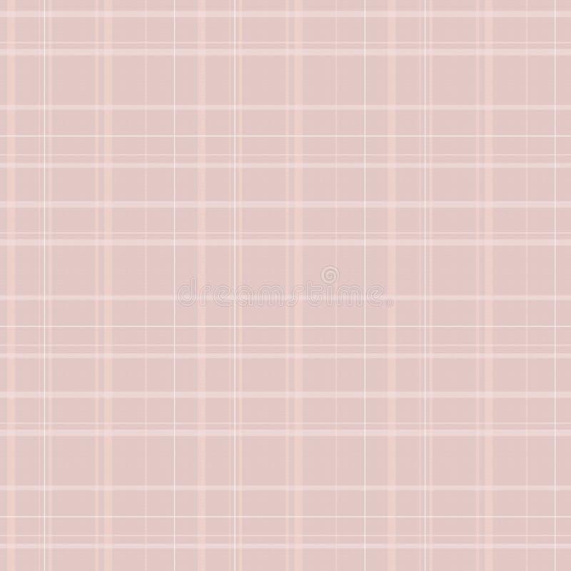 Klatka tartanu tkaniny linii wzoru lampasów nici pokrywy wełny wektoru bezszwowy jasnobrązowy biały tło ilustracji