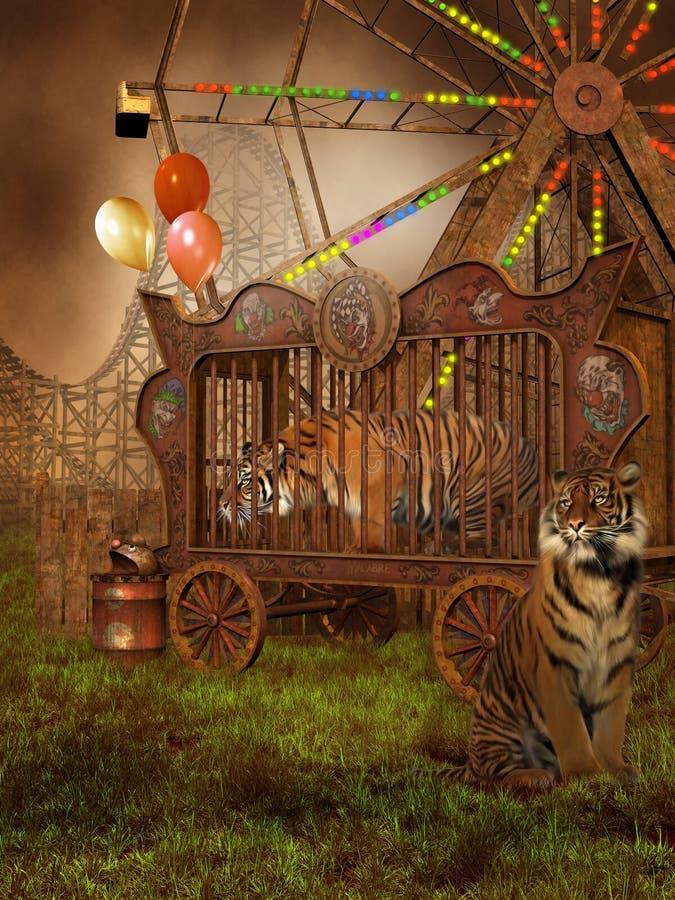 klatka tygrysy ilustracja wektor