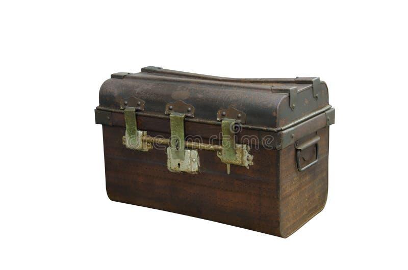 Klatki piersiowej stary drewniany skrzynka bagażnik obrazy royalty free