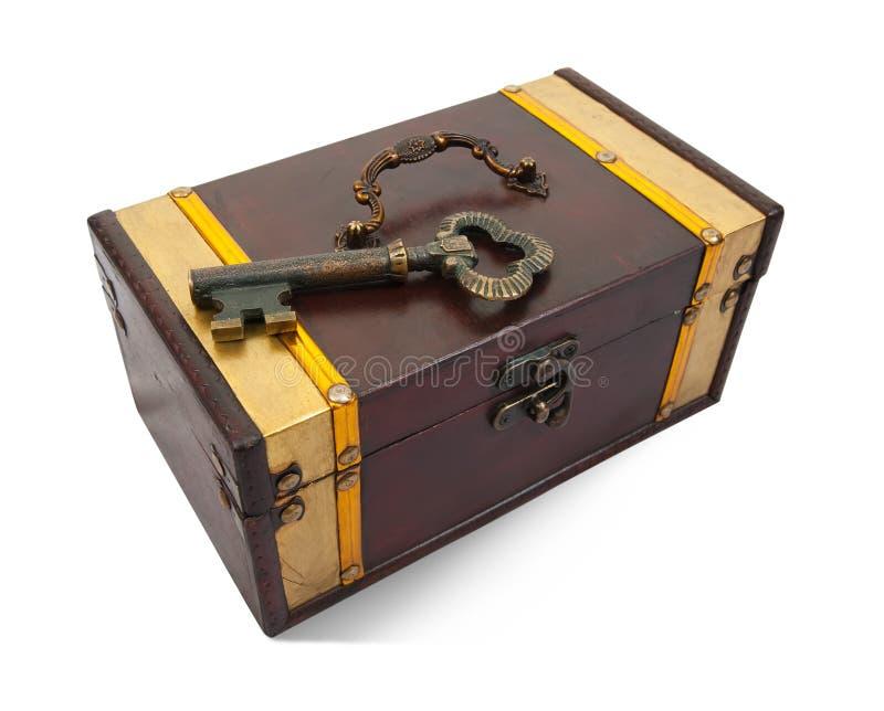 klatki piersiowej złota klucza skarb zdjęcia stock