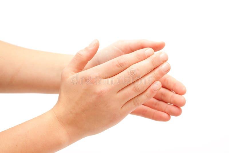 Klatschen! Weibliches Handklatschen lizenzfreies stockbild