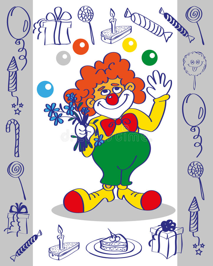 klaun ilustracja wektor