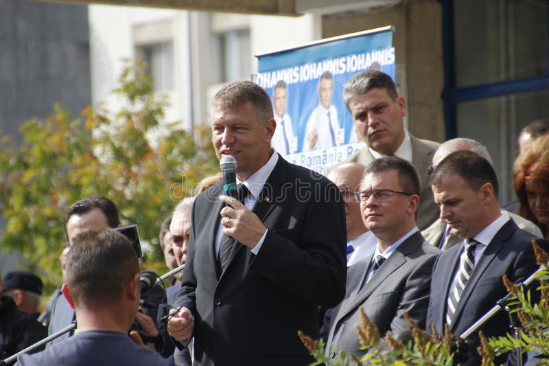 Klaus Iohannis fotografia de stock