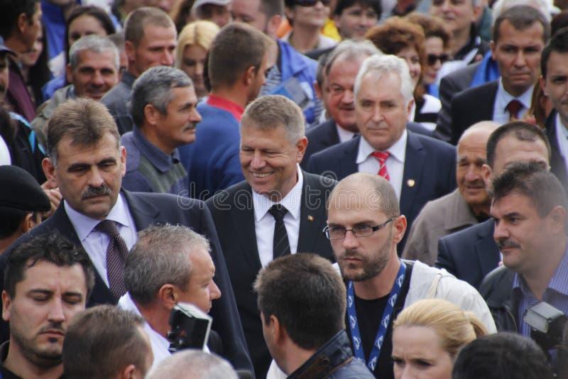 Klaus Iohannis photos stock