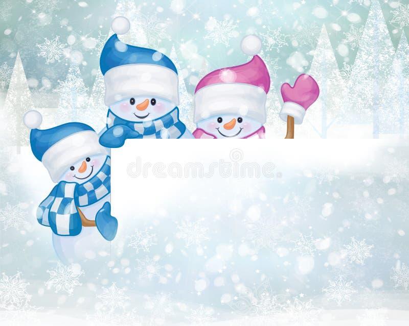 klaus santa för frost för påsekortjul sky stock illustrationer