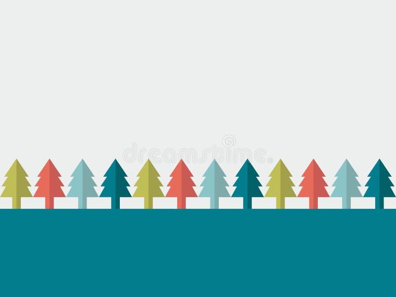 klaus santa för frost för påsekortjul sky Plant trädbegrepp vektor illustrationer