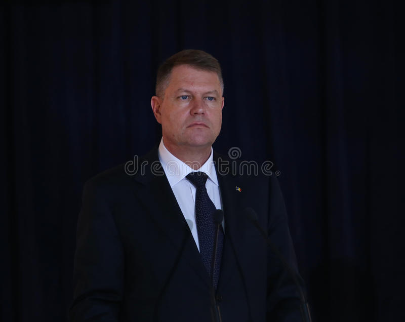 Klaus Werner Iohannis photo stock