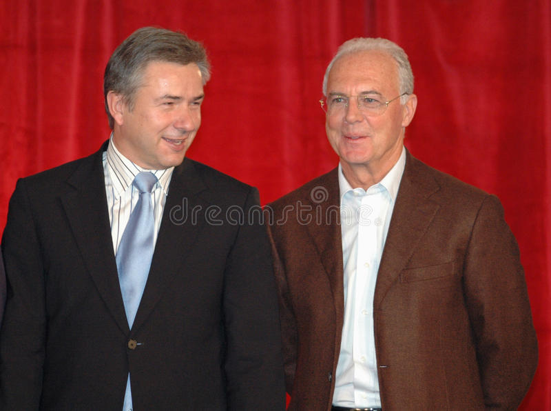 Klaus Wowereit, Franz Beckenbauer obrazy stock