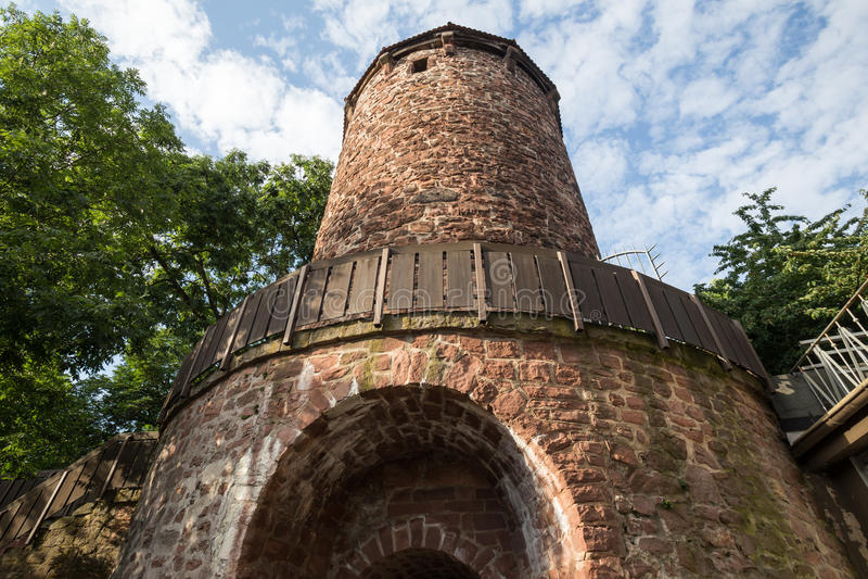 Klausturm塔坏hersfeld德国 库存照片