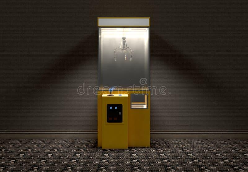 Klauw Arcade Game In Room vector illustratie