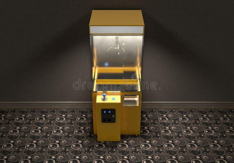 Klauw Arcade Game In Room royalty-vrije illustratie