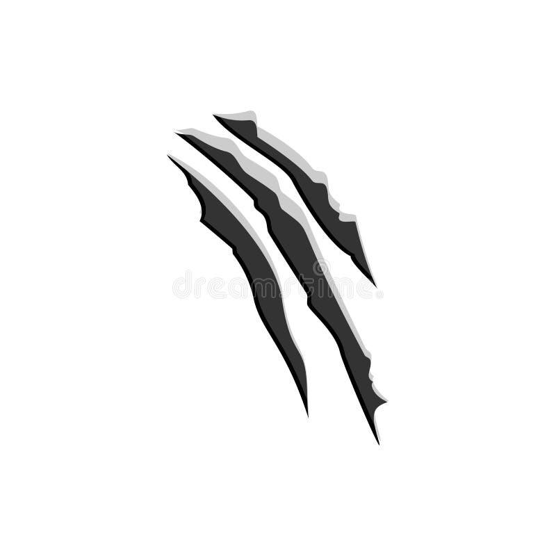 Klauw scratchs wilde dierlijke spijker Vector illustratie vector illustratie