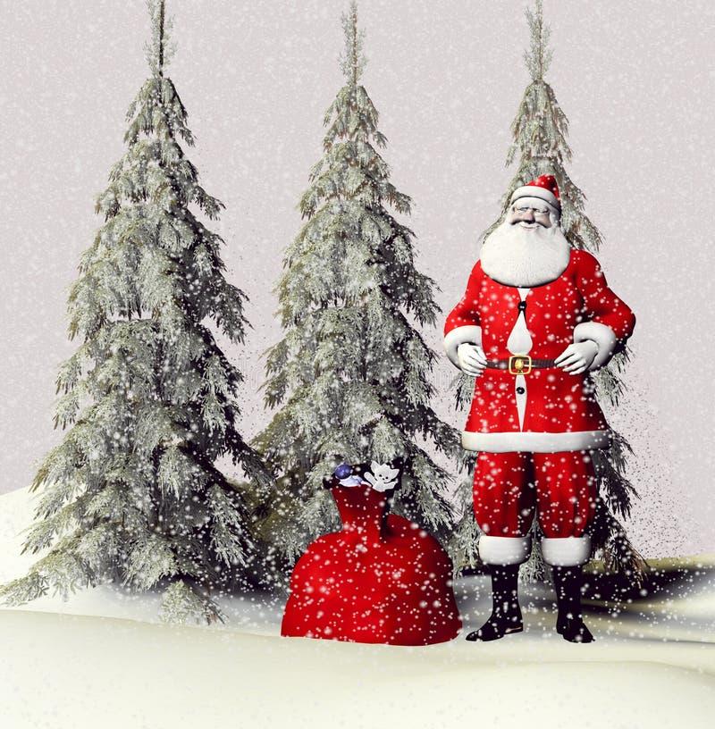 Download Klauzula Santa ilustracji. Ilustracja złożonej z grudzień - 13329517