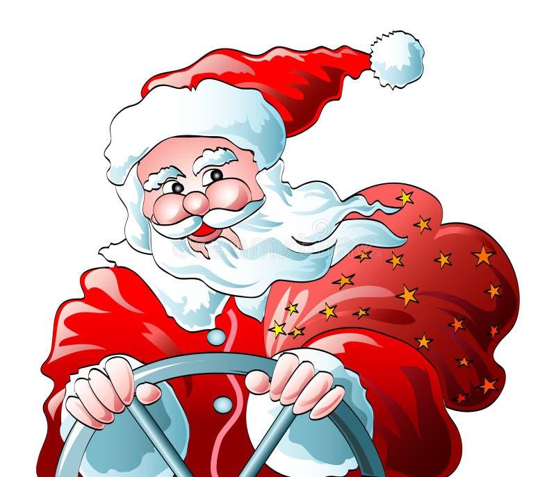 klauzula Santa napędowy ilustracja wektor