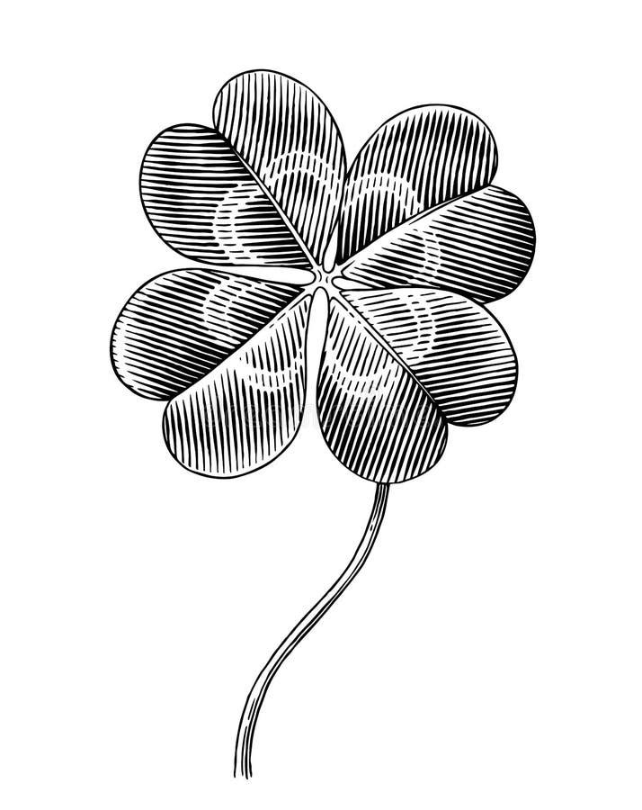Klaver stock illustratie