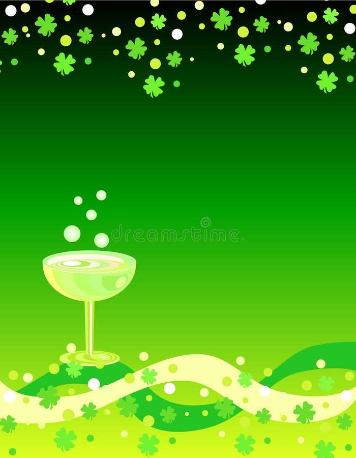 Klaver en wijn royalty-vrije illustratie