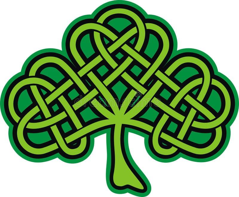 Klaver. Overladen Keltische Tatoegering royalty-vrije illustratie