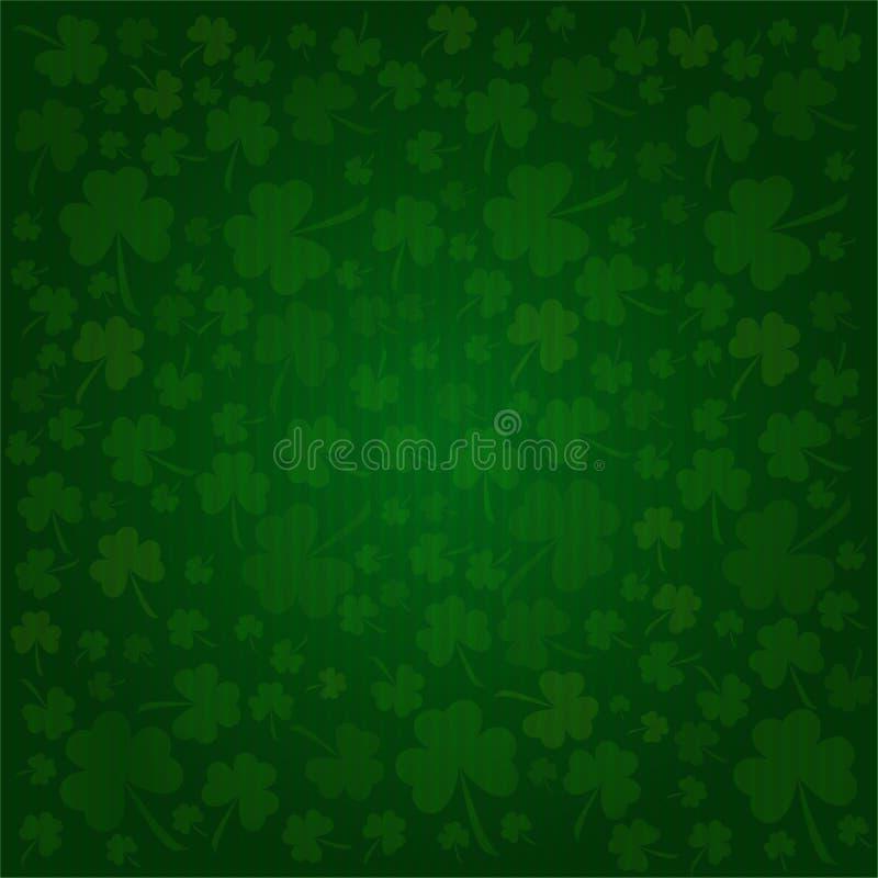 Klaversachtergrond op St. Patrick Dag vector illustratie