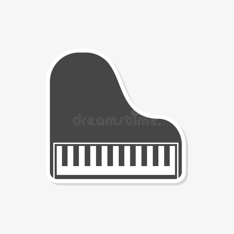 Klavier-Ikonen-flaches Grafikdesign - Vektor Illustration mit langem Schatten vektor abbildung