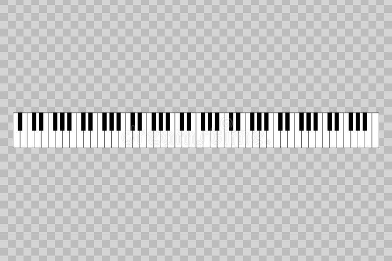 Klavier mit Schlüssel 88 lizenzfreie abbildung