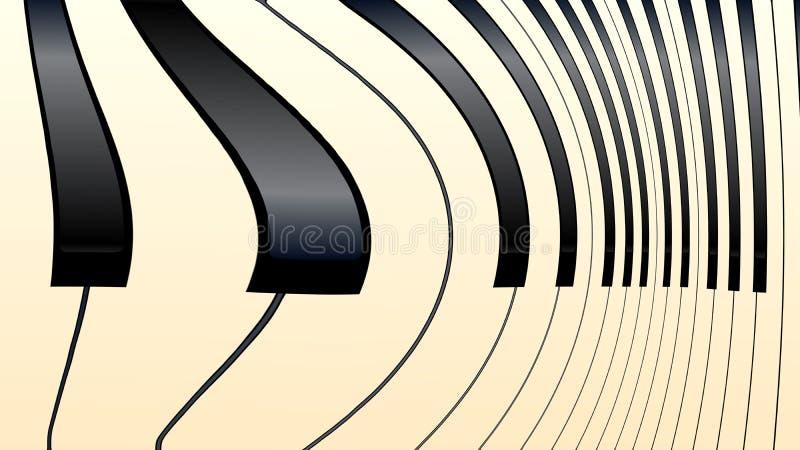 Klavier-Schlüssel verzerrten abstraktes lizenzfreie abbildung
