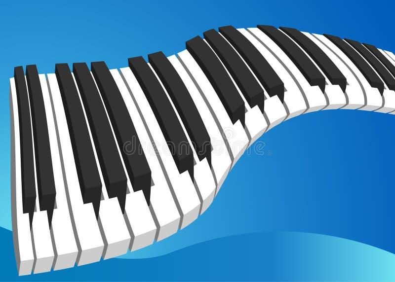 Klavier-Tastatur vektor abbildung