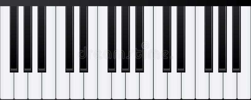Klavier-Tastaturen Verschiedene Winkel und Ansichten vektor abbildung