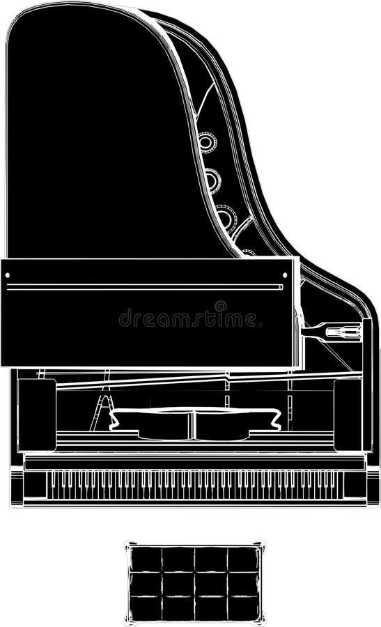 Klavier-Vektor 02 vektor abbildung