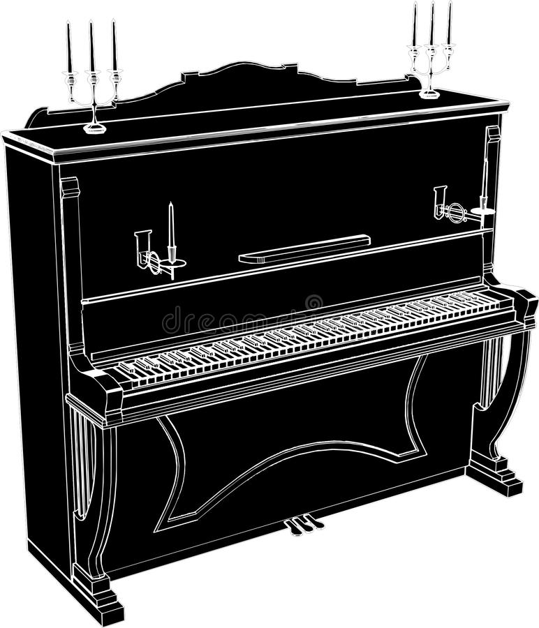 Klavier-Vektor 05 vektor abbildung