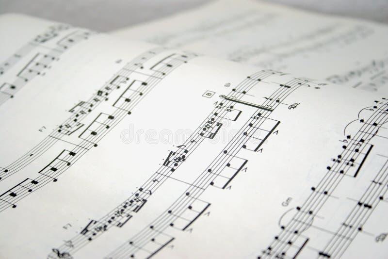 Klavieranmerkungen lizenzfreies stockfoto