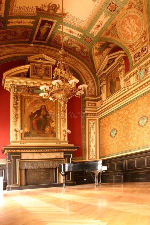 Klavierraum stockfoto