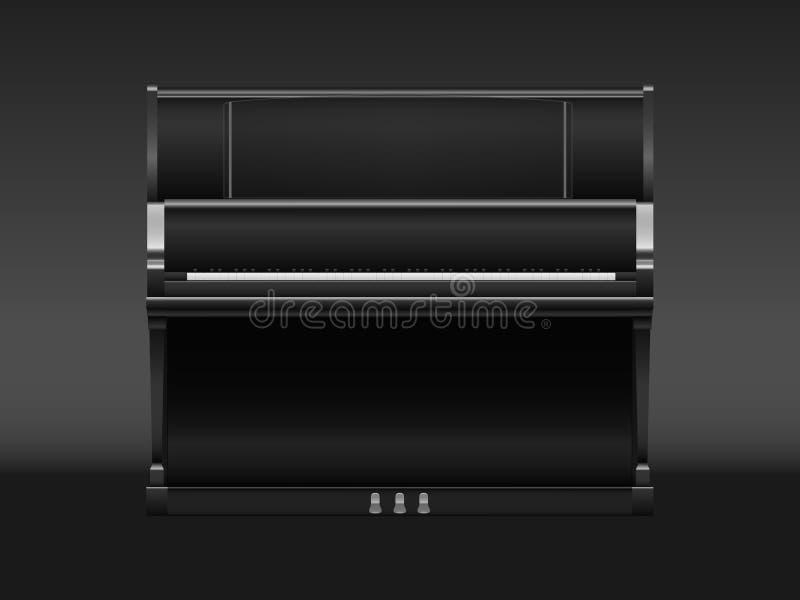 Klavierschwarzes lizenzfreie stockfotos