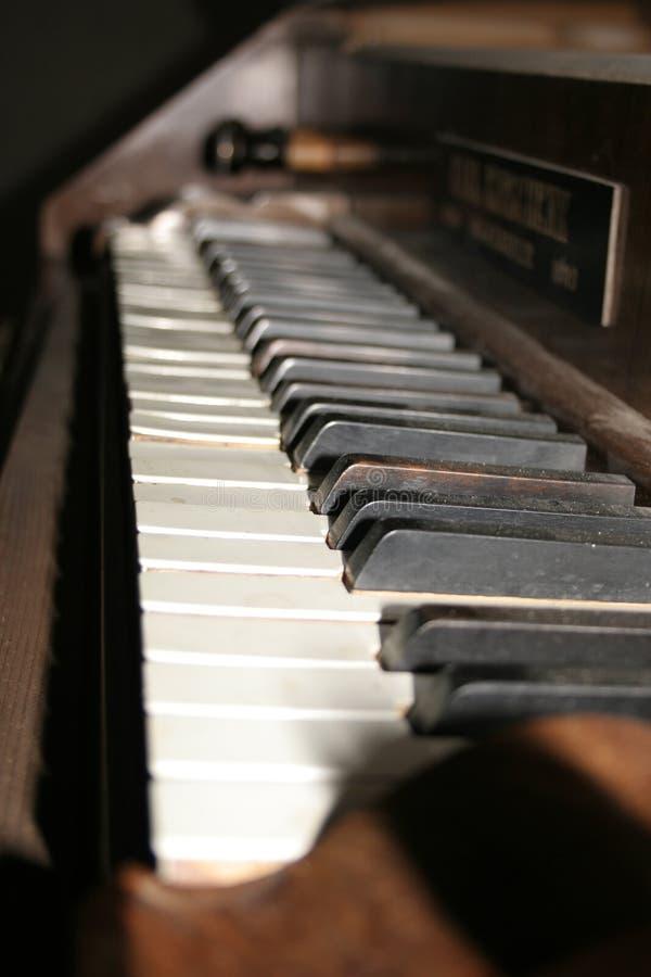 Klaviertastatur stockbilder