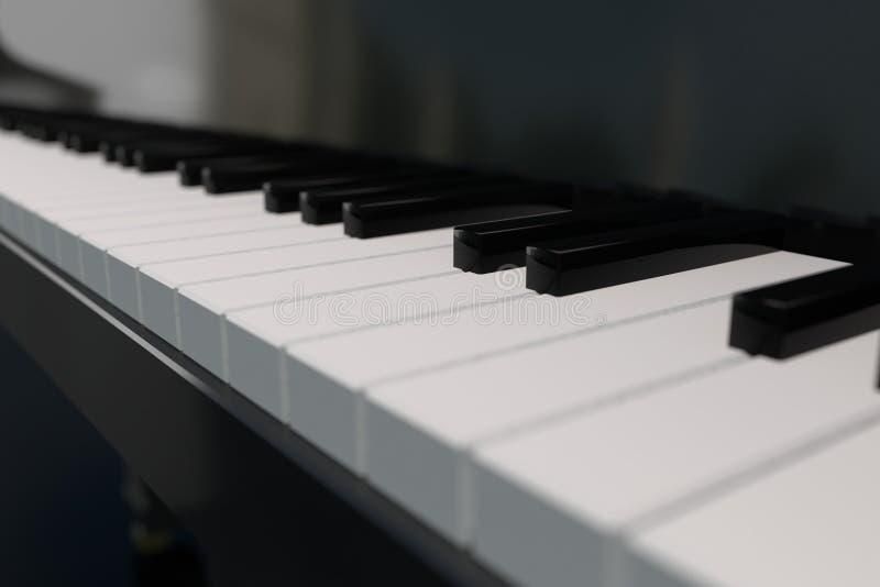Klaviertastatur der Wiedergabe 3D stockfotos