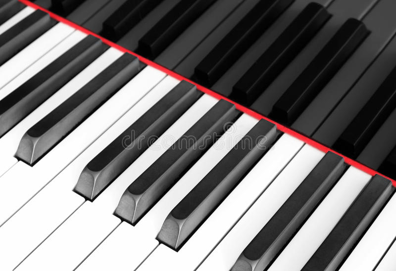 Klaviertastaturmakro, Klaviertastaturnahaufnahme lizenzfreie stockbilder