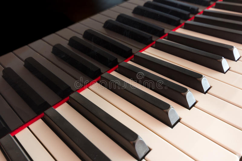 Klaviertastaturnahaufnahme - Klavierschlüssel stockfoto