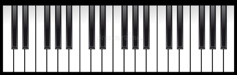 Klaviertasten stock abbildung