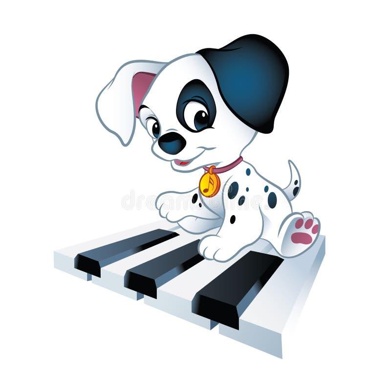 Klavierwelpe stock abbildung
