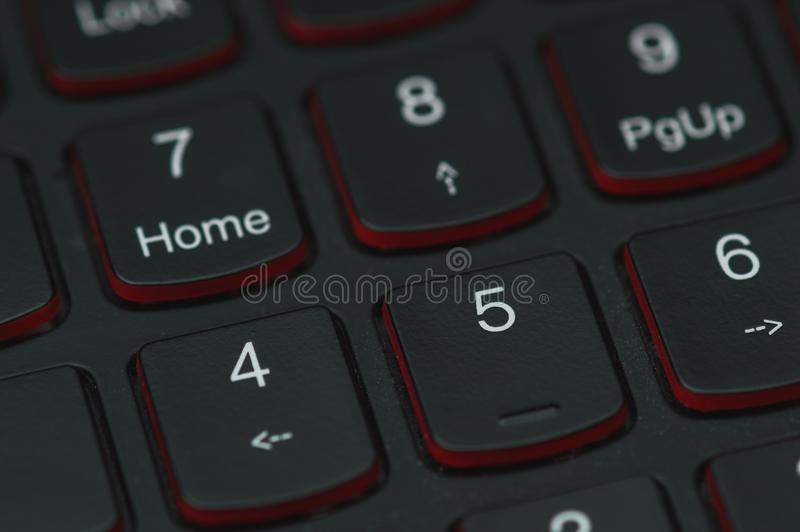 Klawiatura hazardu laptop obrazy royalty free