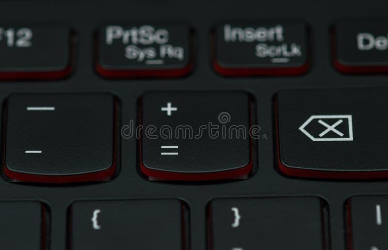 Klawiatura hazardu laptop zdjęcia royalty free
