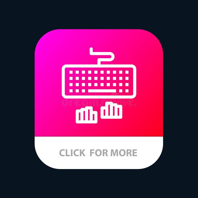 Klawiatura, interfejs, typ, Pisać na maszynie Mobilny App guzik Android i IOS linii wersja royalty ilustracja