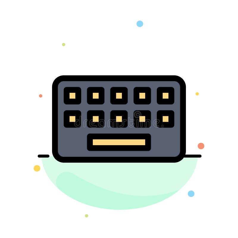 klawiatura, Pisać na maszynie, deska, Kluczowy Abstrakcjonistyczny Płaski kolor ikony szablon royalty ilustracja