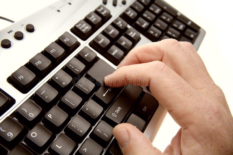 klawiatura ręce zdjęcie stock