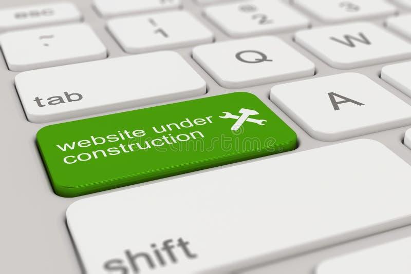 Klawiatura - strona internetowa w budowie - zieleń ilustracja wektor