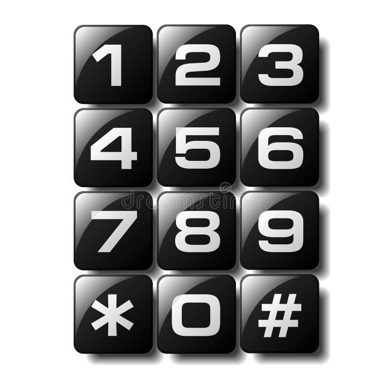 klawiatura telefon ilustracji
