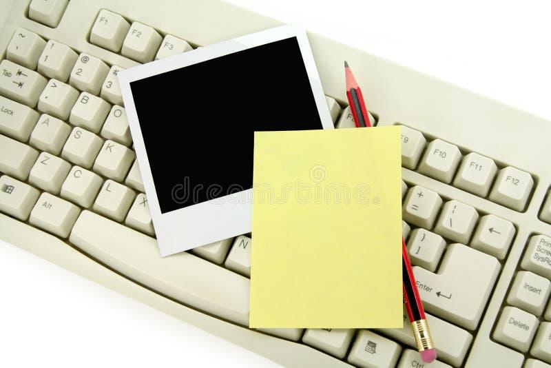 klawiaturowa zdjęcie notepaper fotografia stock