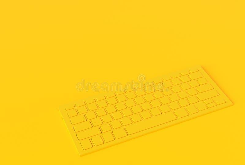 Klawiaturowego żółtego koloru inimal pojęcie ilustracja wektor