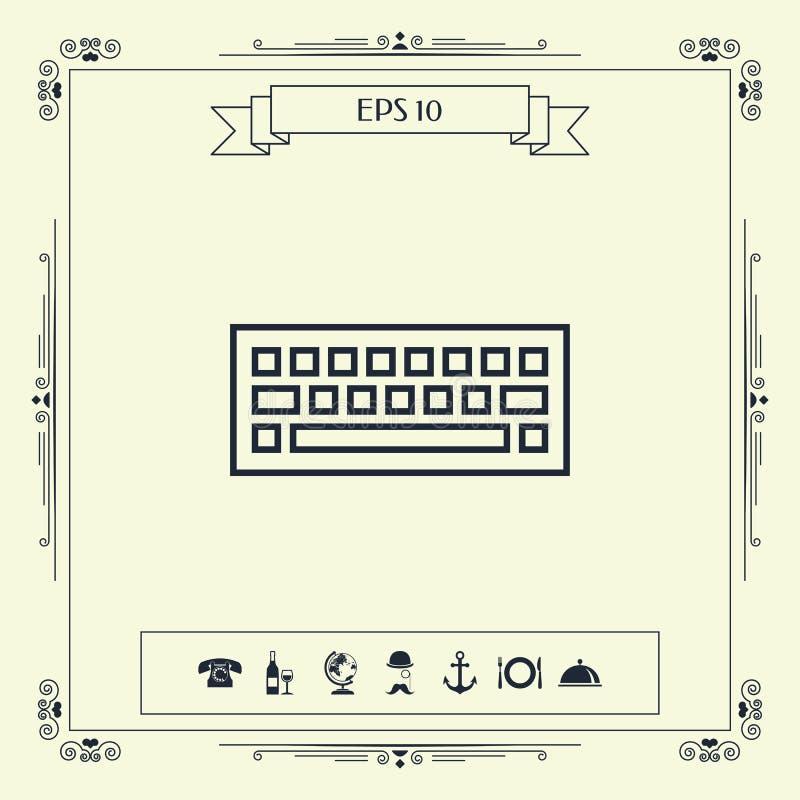 Klawiaturowy ikona symbol royalty ilustracja