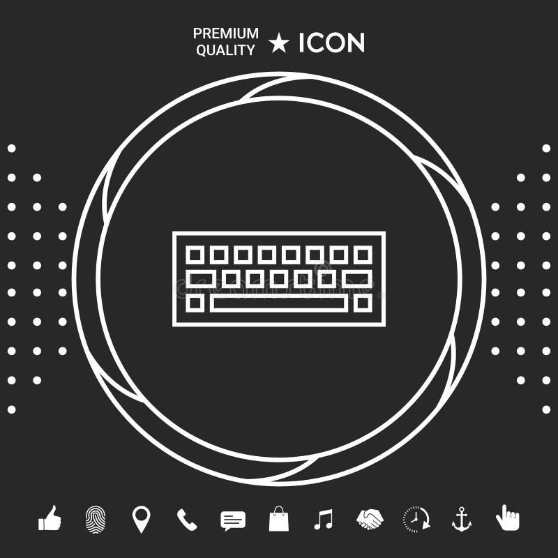 Klawiaturowy ikona symbol Graficzni elementy dla twój designt ilustracja wektor