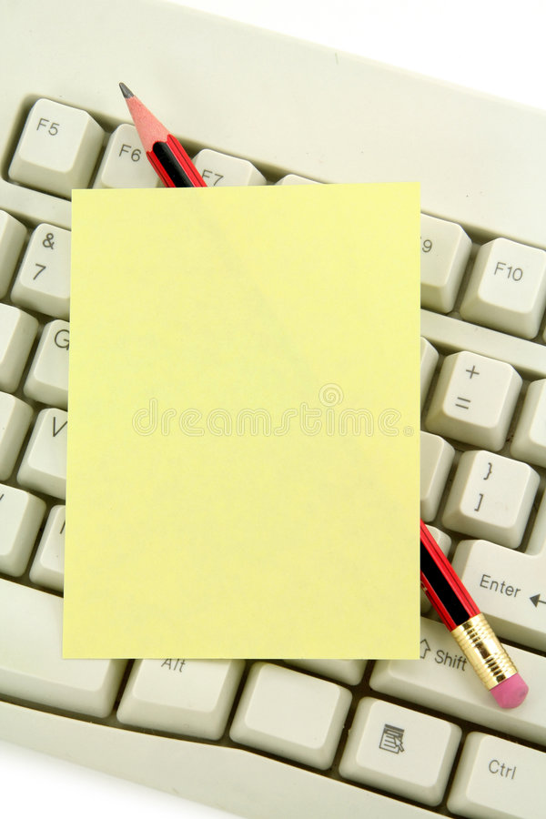 klawiaturowy notepaper zdjęcie royalty free